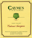 2007 Caymus Cabernet Label
