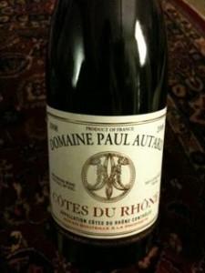 Domaine Paul Auturd Cotes du Rhone