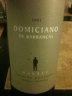 Bodega Domiciano de Barrancas Malbec Cosecha Nocturna
