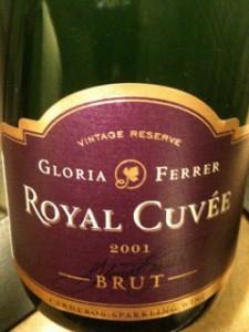 Gloria Ferrer Royal Cuvee 2001 label