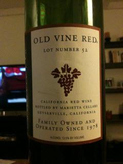 Marietta Cellars Old Vine Red Lot #52 bottle