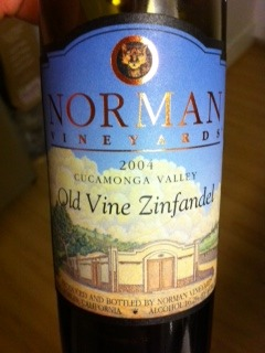 2004 Norman Old Vine Zinfandel