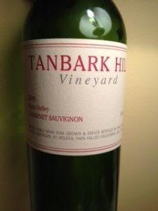 2009 Tanbark Hill Bottle