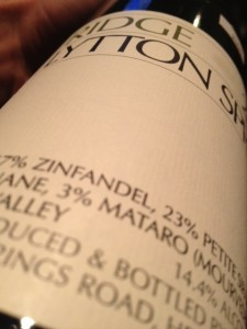 2010 Ridge Lytton Springs