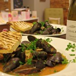 A Top CA (Under $20) Chard with Simple Belgian Beer Mussels